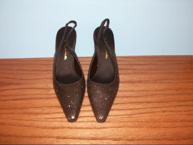 Nina Glittery Chocolate Brown Slingbacks - Size 8M