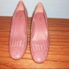 "rsvp ""Merryl"" Pink Snakeskin Pumps - Size 6 /12 M"