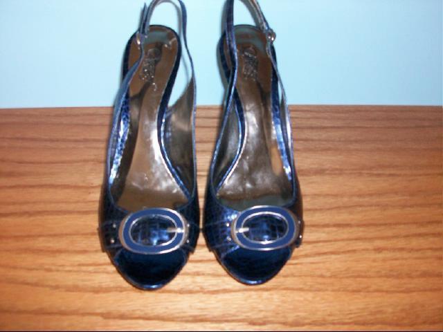 "Carlos Santana ""Police"" Model Slingback Heels in Blue - Size 9 1/2M"