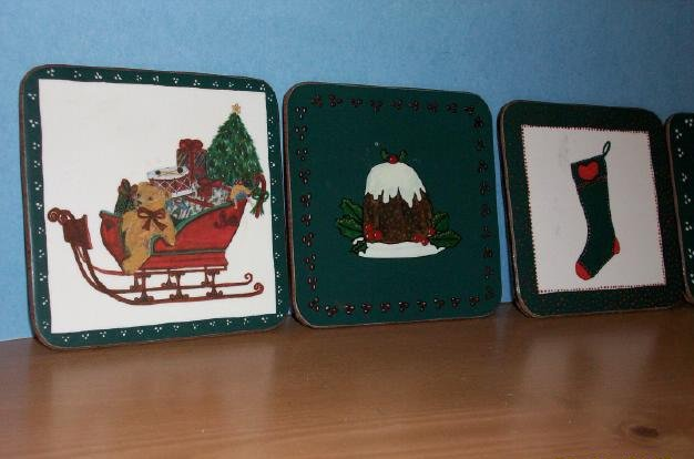 5 Piece Christmas Coaster set from Pimpernel