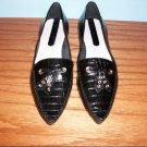 Nine West Reptile Pattern Black Flats - Size 7 1/2 M