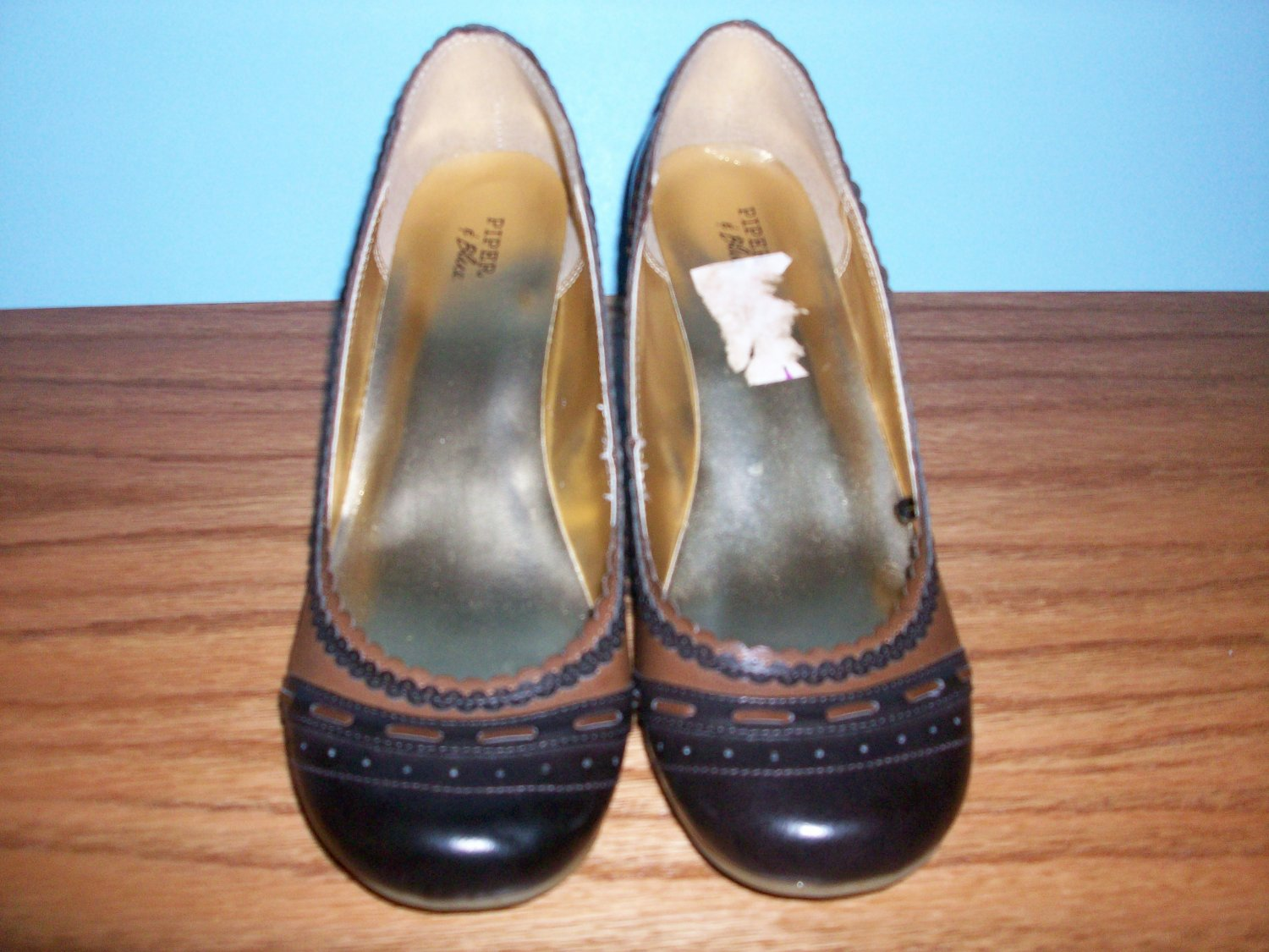 Piper & Blue Brown Wedge Shoe - Size 8 1/2