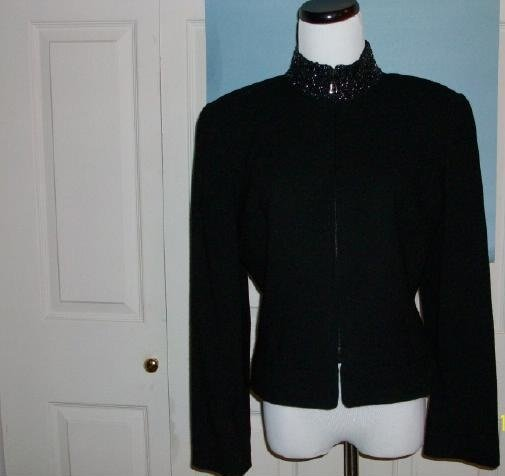 Ellen Tracy Wool Waist Jacket - Size 10