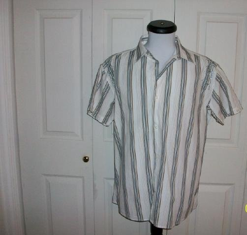 Men's Cubavera Short Sleeve Casual Shirt - Size XL