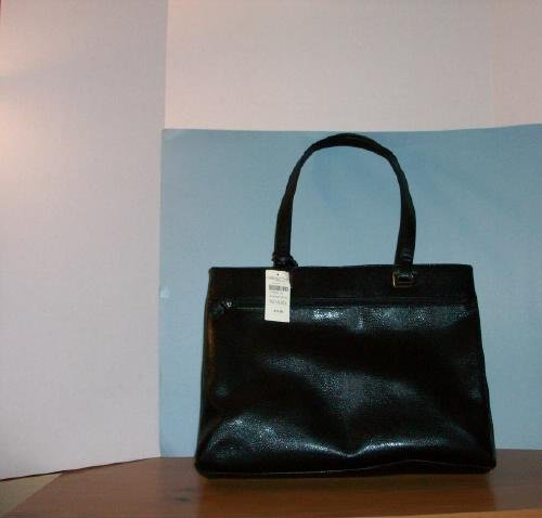 Coldwater Creek Black Leather Tote