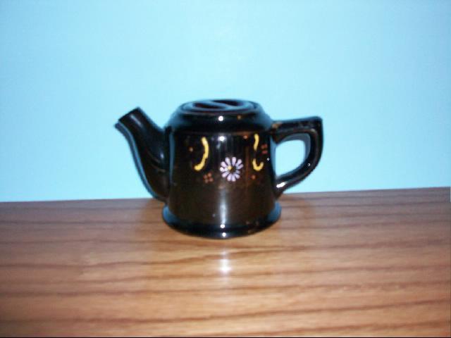 Vintage Decorative Japanese Collectible Cobalt Blue Teapot