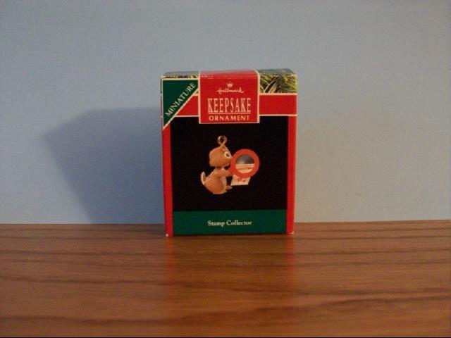 Hallmark Mini Keepsake Ornament - Stamp Collector