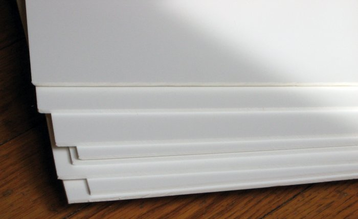 White Sintra 3mm 1 8 Quot 8pcs 23 7 8 X 23 7 8 Rigid Pvc