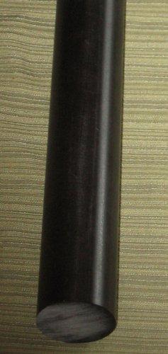 "Acetal rod 1-1/4"" dia x 11-7/8"" black Delrin plastic POM"