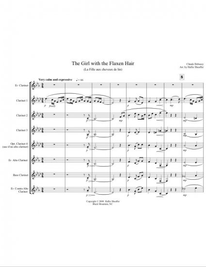 The Girl with the Flaxen Hair - Claude Debussy Clarinet Choir