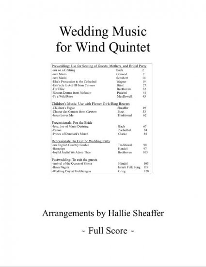 Wedding Music for Woodwind Quintet