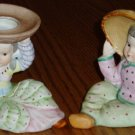 Pair Marked Occupied Japan Ucagco International Girl Planters