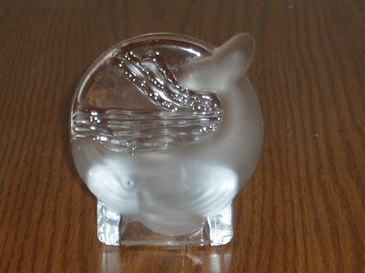 Party Lite Crystal Whale Tealight Candle Holder