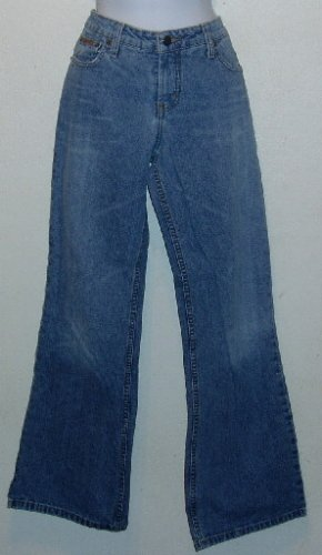 Juniors l.e.i. Jeans Size 7 Flare Leg Blue 5 Pocket