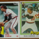 Lot of 2 Rod Carew Angels Cards Donruss & Topps MLB