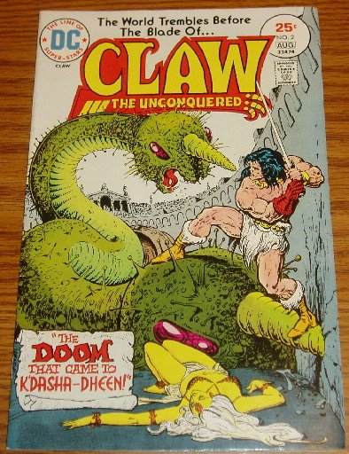 DC Comics Claw the Unconquered Issue #2 July-Aug 1975