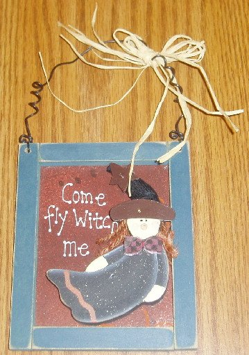 Come Fly Witch Me Halloween Wall Hanging Plaque Decor