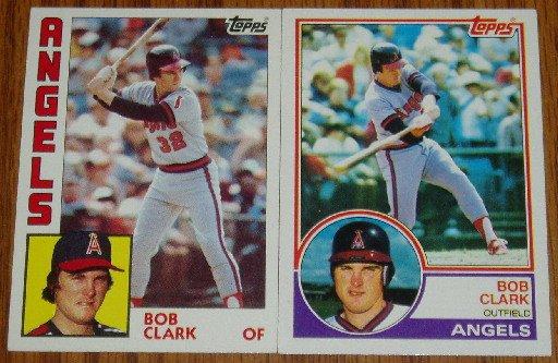 Lot of 2 MLB Topps Bob Clark Cards #184, 626 1983 1984