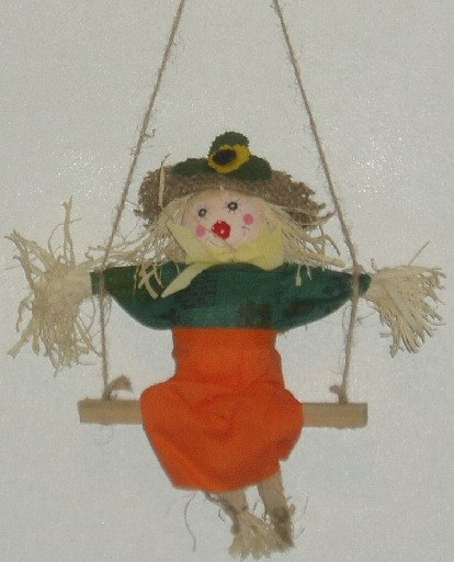 Scarecrow on a Swing Hanging Halloween Fall Decor