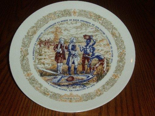 1973 D'Arceau Limoges Lafayette & Slaves Collector Plate