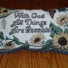 Machine Embroidered Sunflower Motif Decorative Pillow
