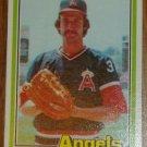 1981 MLB Donruss Mark Clear California Angels Card #291