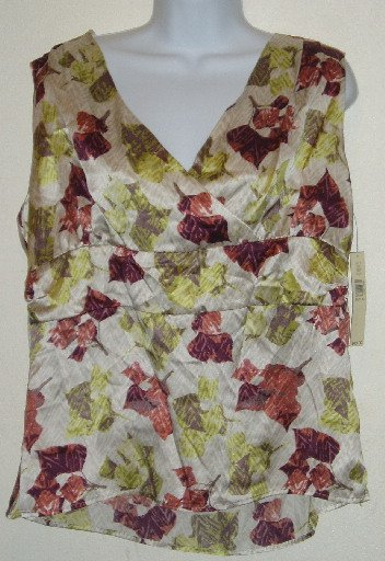 NWT Amanda Smith Sleeveless V Neck Top/Blouse Size 14