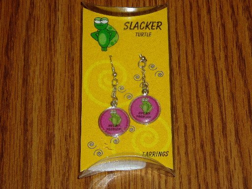 Slacker Turtle Not My Problem Novelty Dangle Earrings