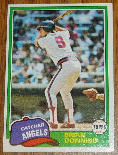 1981 MLB Topps Card #263 Brian Downing Angels Catcher