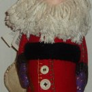 "Hallmark 15"" Stuffed Santa W/Toy Bag Rag Beard Country"