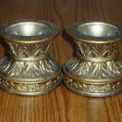 El Dorado Gold Metal and Glass Votive Candle Holder Set