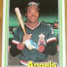 1981 MLB Donruss Dan Ford California Angels Card #54