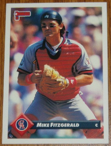 1993 MLB Donruss Series 2 #757 Mike Fitzgerald CA Angels