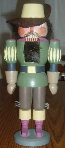 "Bavarian Wooden Nutcracker 13"" Tall Christmas Decor"