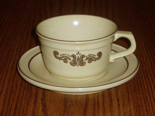 Pfaltzgraff Village Pattern Cup/Mug and Saucer Set