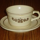 Pfaltzgraff Village Pattern Cup/Mug and Saucer Set