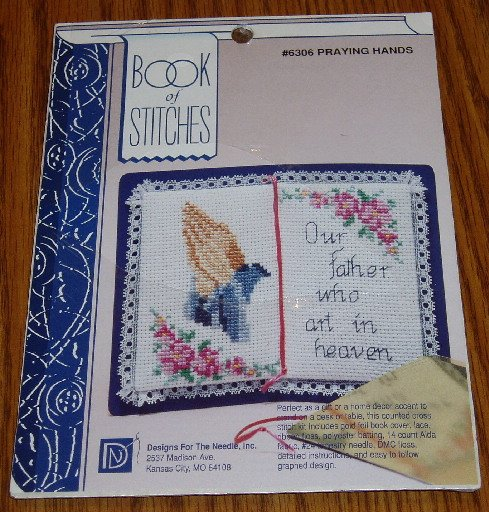 Designs For Needle Book of Stitches Praying Hands Kit