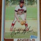 1982 MLB Topps Card #357 Butch Hobson California Angels