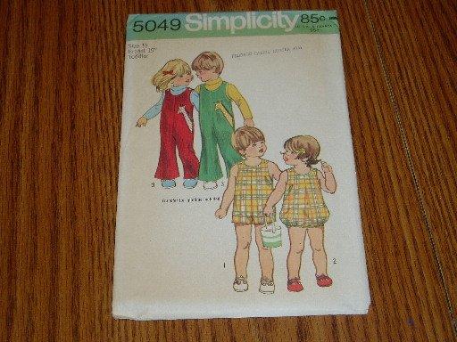 Vintage 1972 Uncut Simplicity Toddler Jumper Pattern