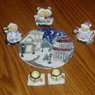 Bear Carolers Miniature Tea Set Holiday/Christmas Decor