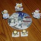 Bear Carolers Miniature Tea Set Holiday/Christmas Decor