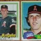 Lot of 2 Ed Halicki Angels Cards Donruss & Topps MLB