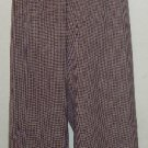NWT Sag Harbor Sz 18W Red/Black/Tan/Purple Plaid Pants