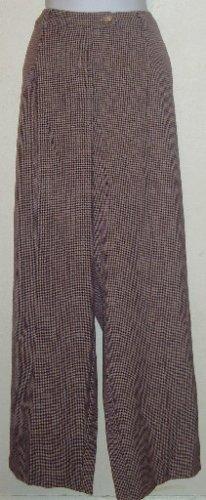NWT Sag Harbor Sz 18W Red/Black/Tan/Purple Plaid Pants
