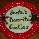 Ceramic Plate with Box Santa's Favorite Cookies Holiday