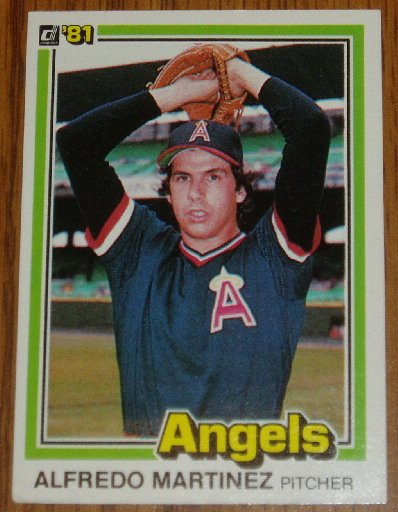 1981 MLB Donruss Alfredo Martinez  Angels Card #172