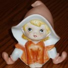 HOMCO Pixie/Elf Figurine Orange #5213