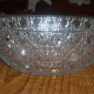 Large Cut Leaded Crystal Faceted Bowl Geometric Design