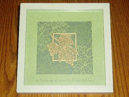 Hallmark Laser Gallery Framed Paper Sculpture