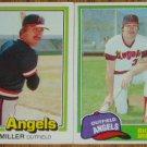 Lot of 2 Rick Miller Angels Cards Donruss & Topps MLB